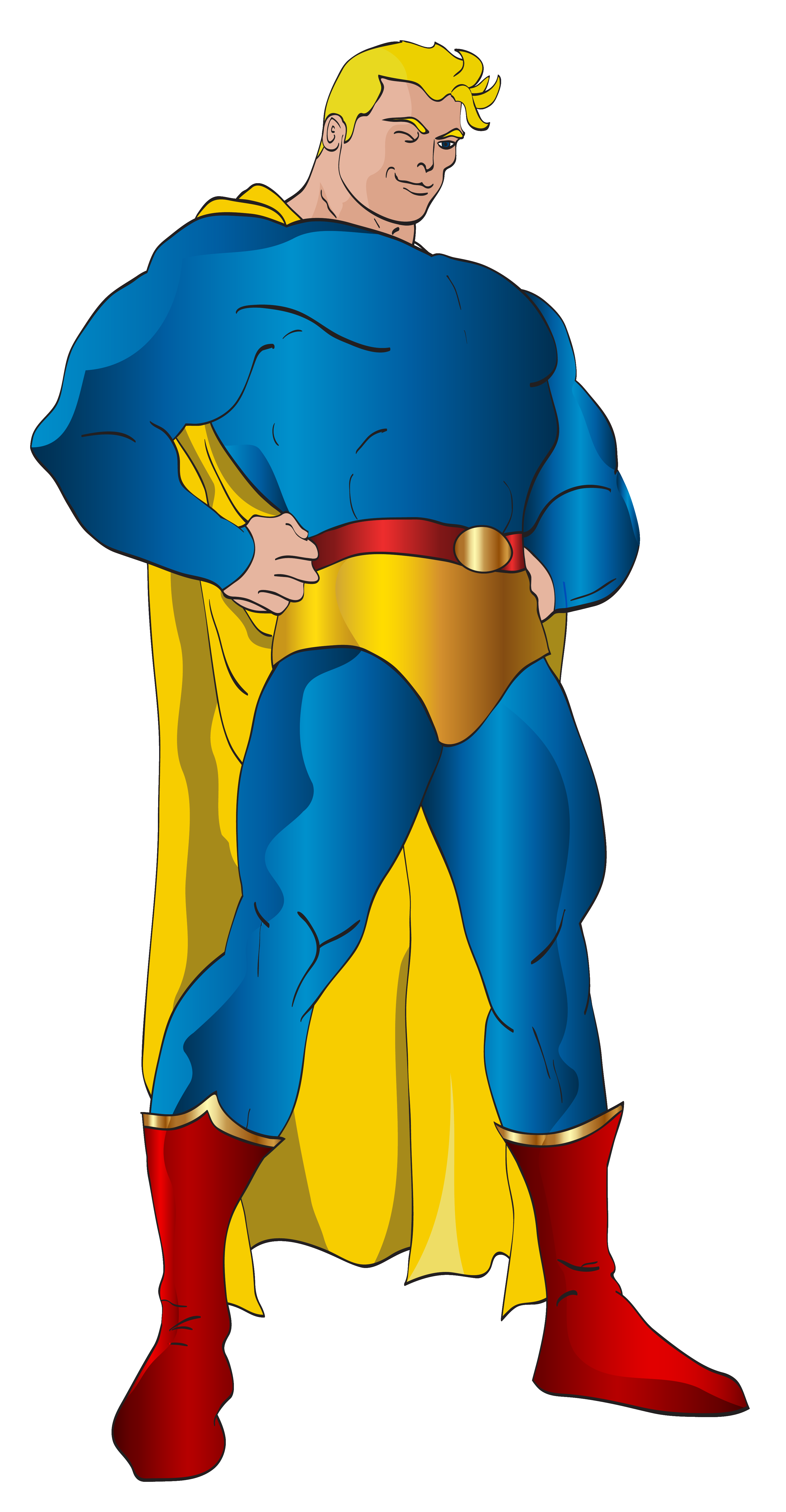 Superhero PNG Clip Art Image.