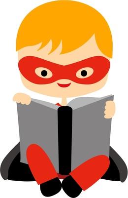 Download super hero reading book clipart Superhero Clip art.