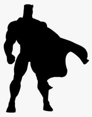 Superhero Silhouette PNG, Transparent Superhero Silhouette.