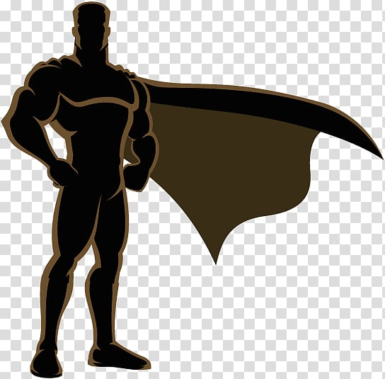Superman Superhero Silhouette, superman transparent.