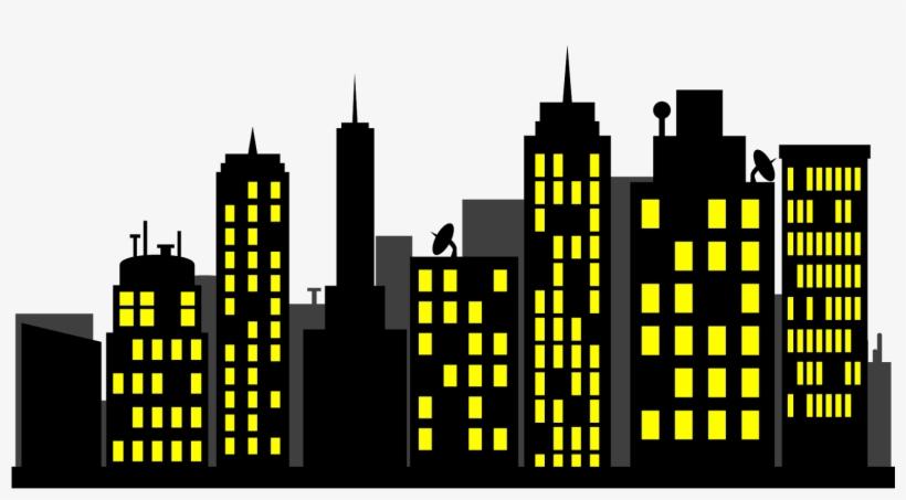 Skyline Clipart Superhero.