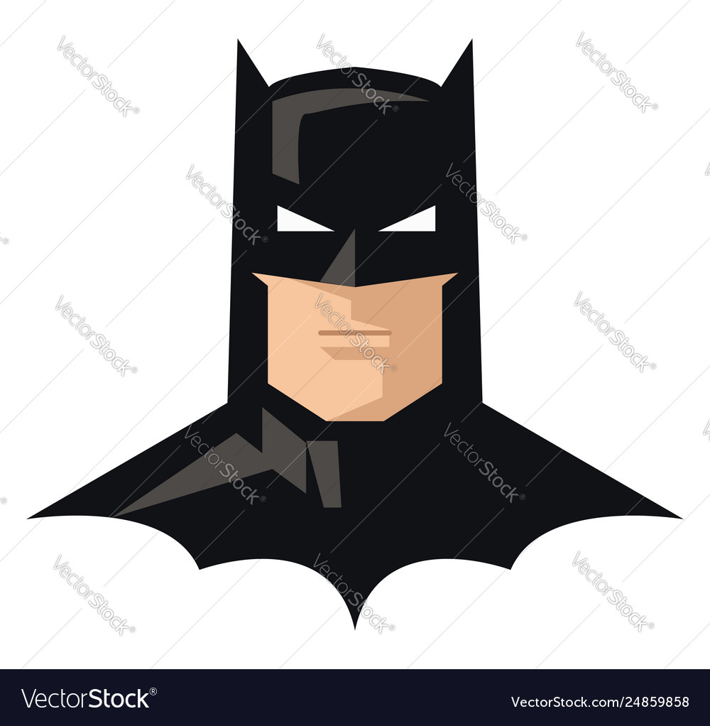 Clipart comic superhero batman in his iconic.
