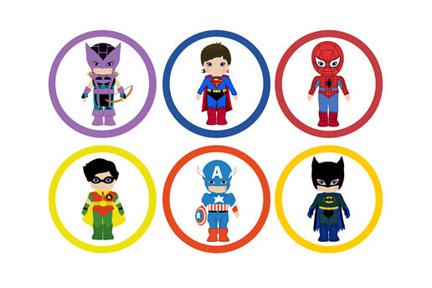 Free superheroes clip art.
