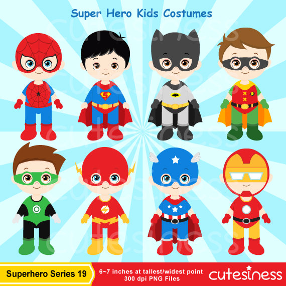 Superheroes and villains clipart clipground superhero digital clipart superhero clipart super hero voltagebd Image collections