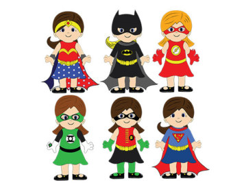 Female Superhero Clipart.