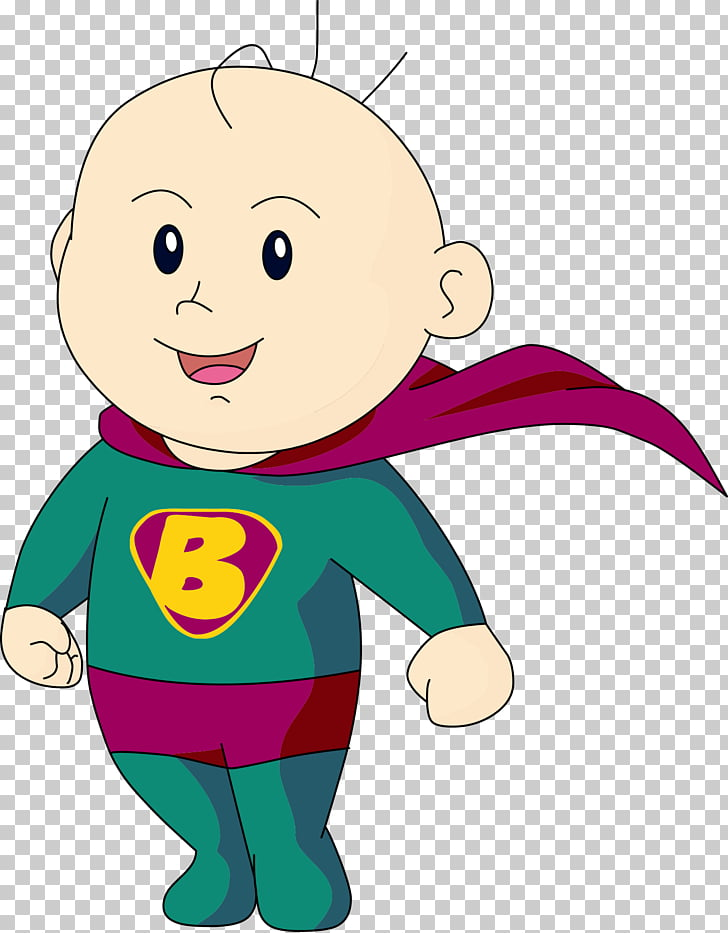 Superman Infant Cartoon Illustration, Superman cartoon baby.