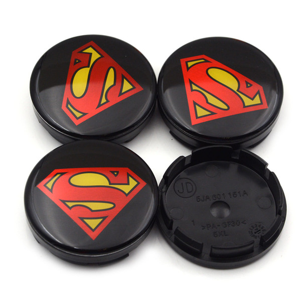 Gzhengtong 56mm Superman Logo Car Emblem Wheel Center Hub Cap Rim Badge  Covers 5JA601151A Black Superman Wheel Caps Car Brand Emblems Car Brand  Logos.