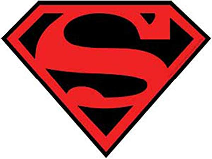 Licenses Products DC Comics Originals Superman Sticker with Red and Black  Logo.
