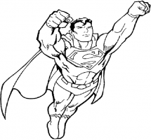 Superman Clipart Black And White.