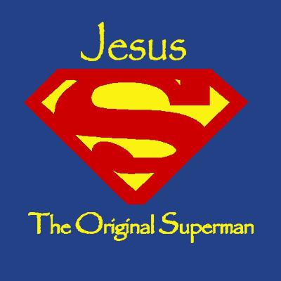 superman clipart jesus sceen #4