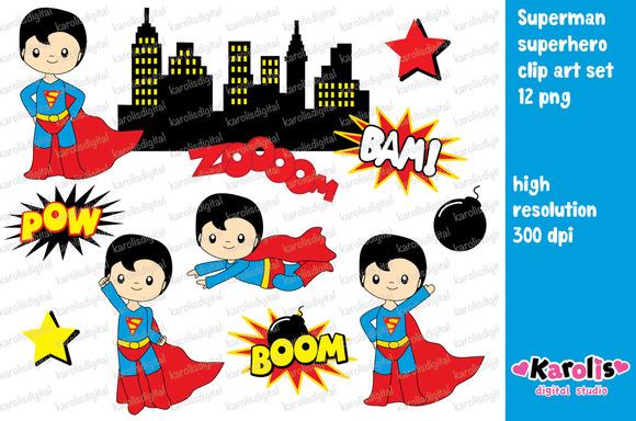 Superman clipart jesus scene.
