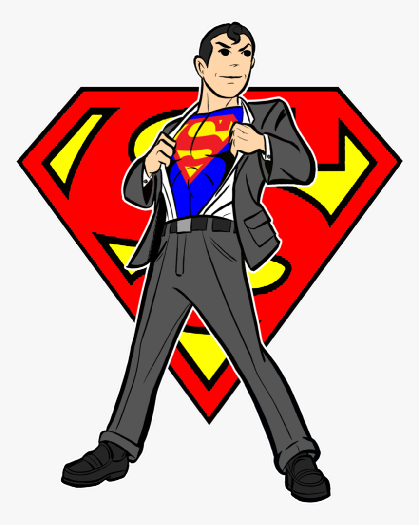 Transparent Superman Clipart.