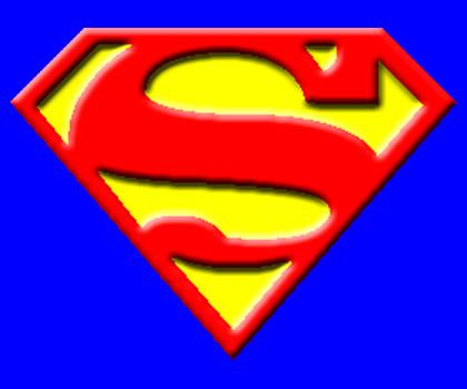 Superman clipart logo.