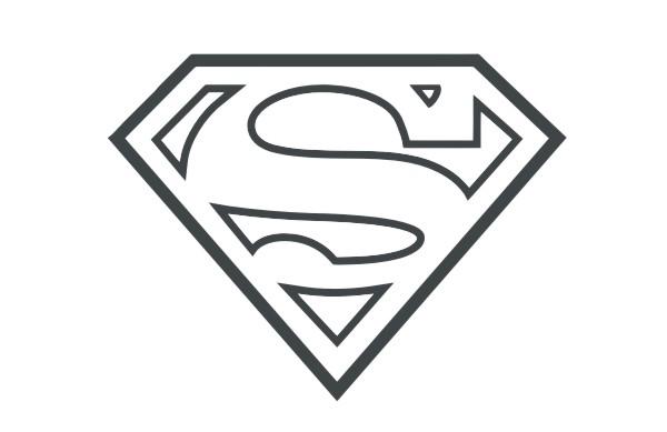 Superman Logo Vector.