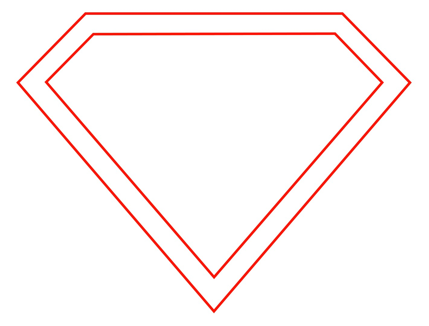 Superman Outline.