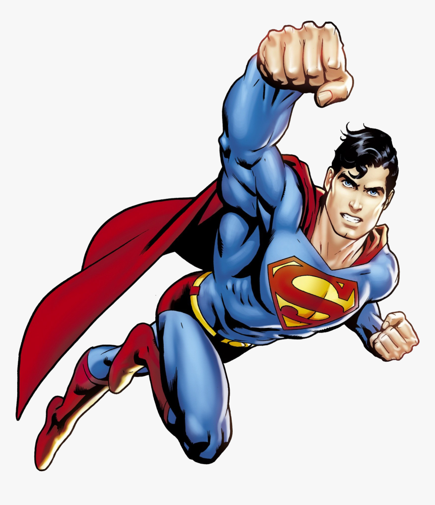 Superman Flying Png Image Transparent Background.