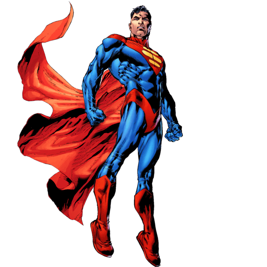Superman Flying transparent PNG.