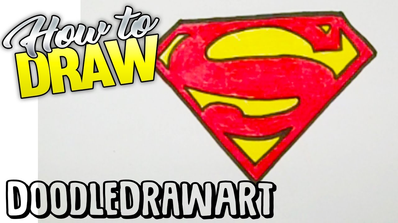 Drawing: How To Draw The Superman Logo.