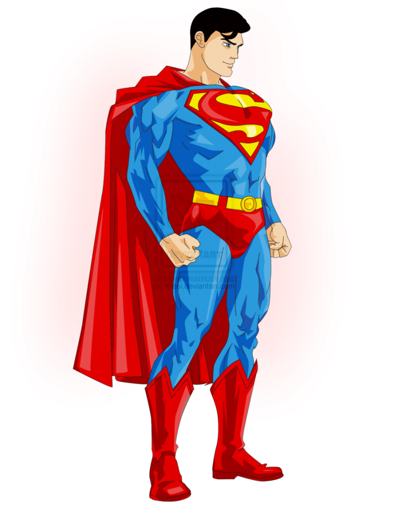 Free superman cartoon clipart 2.