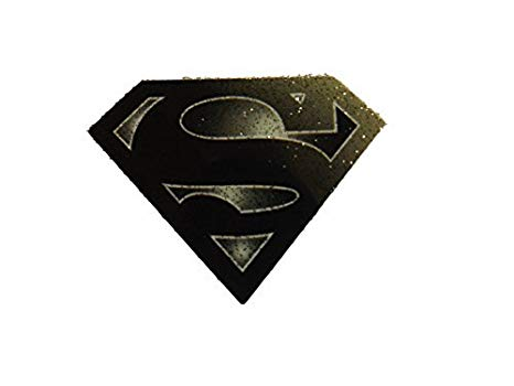 Small Black Superman Logo smooth iron on heat transfer.
