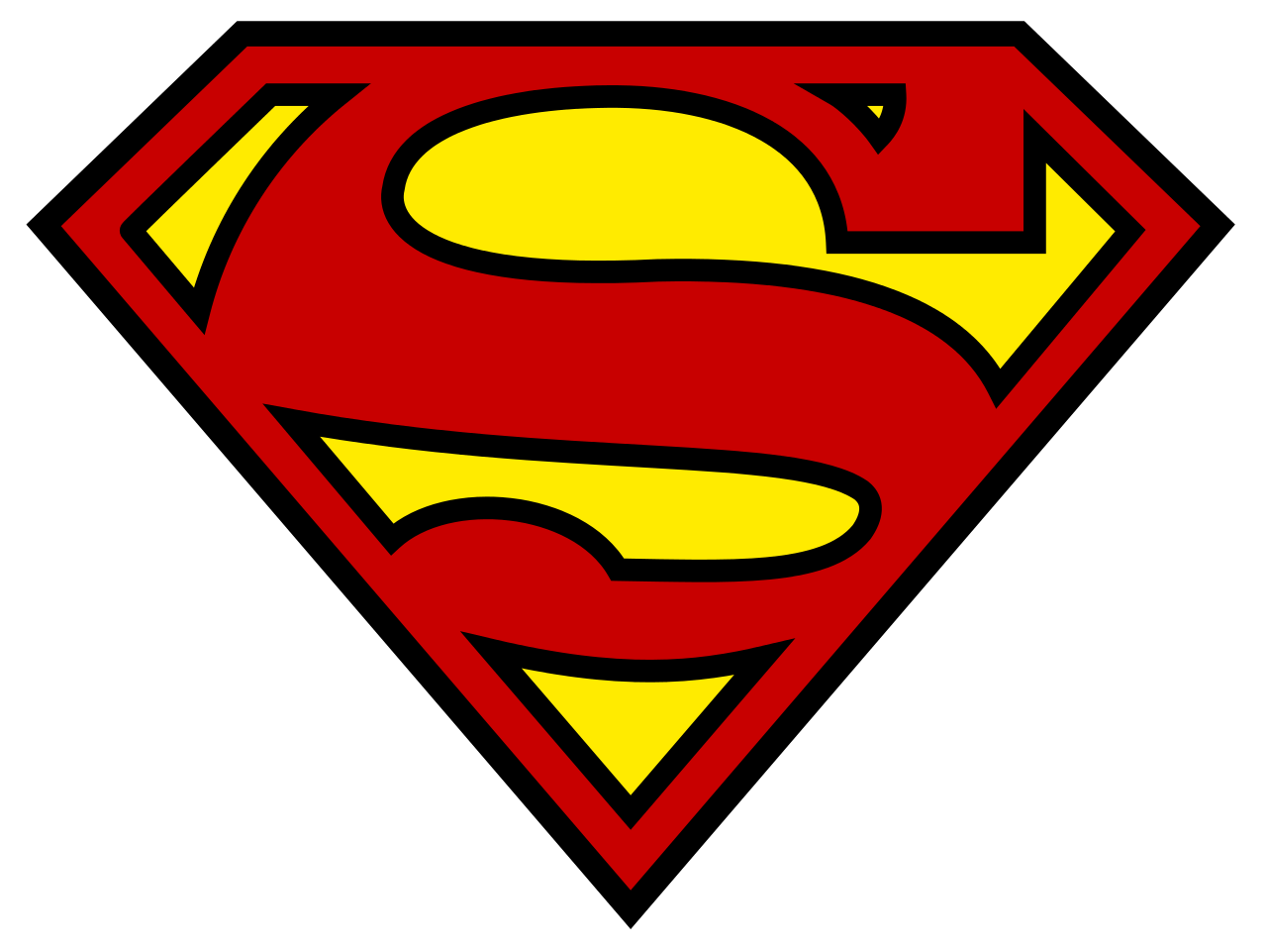Superman Logo transparent PNG.