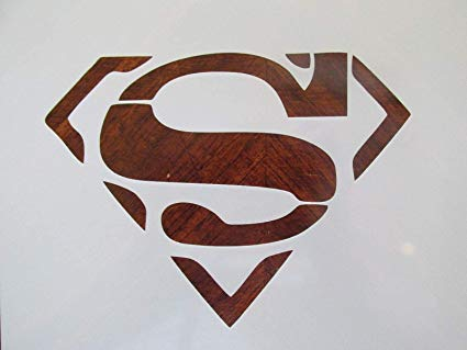 Amazon.com: Crazy Discount Superman Emblem Reusable Stencil.