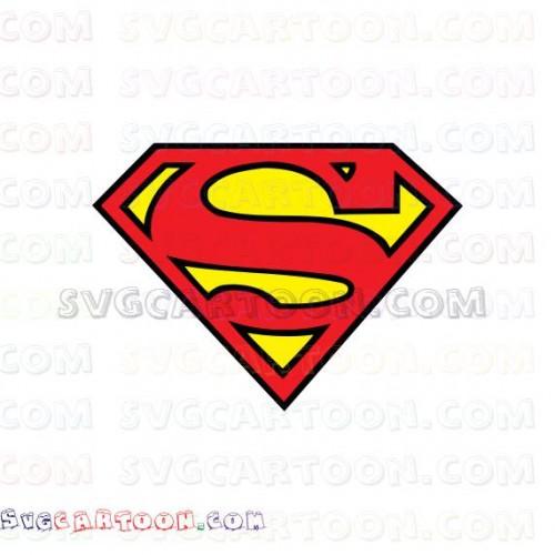 Superman Superhero Logo svg dxf eps pdf png.