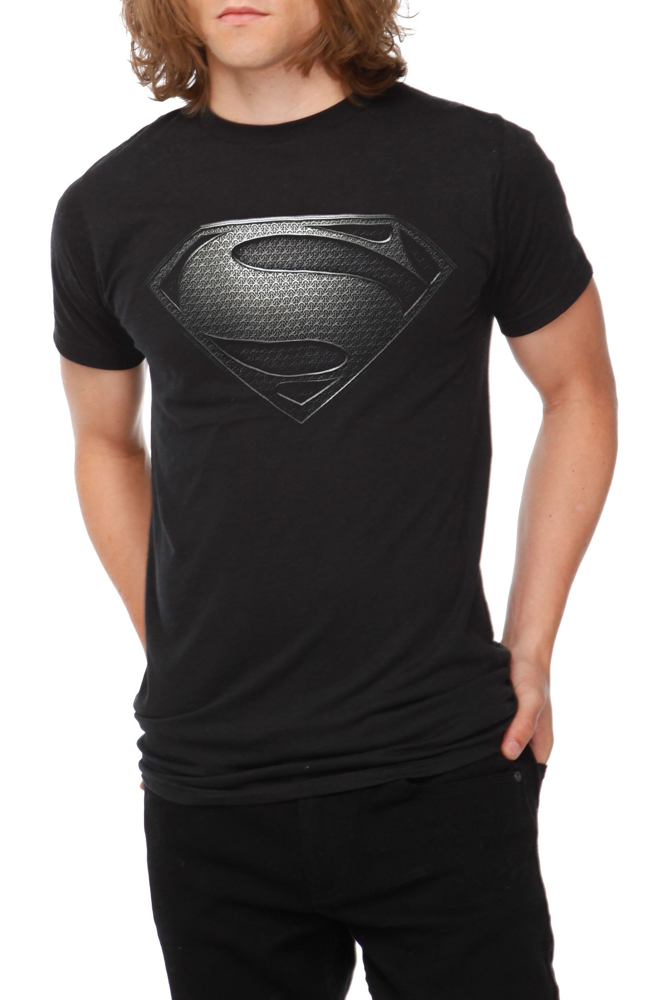 DC Comics Superman Man Of Steel Silver Logo T.