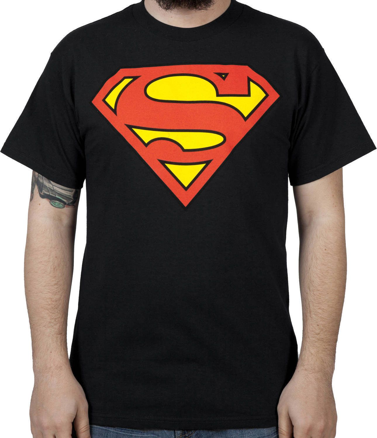 Black Superman Logo Shirt.