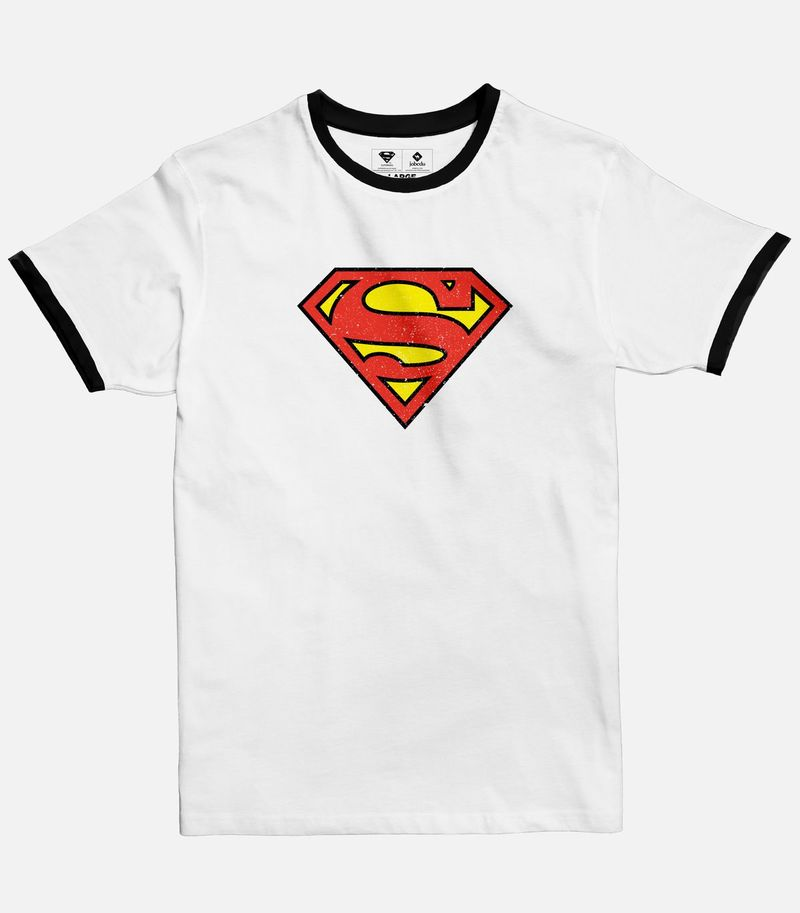 Superman Logo Ringer T.