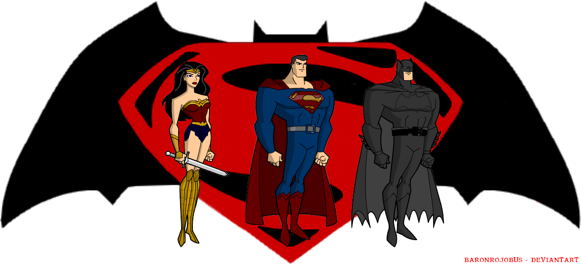 Batman Vs Superman Clipart.