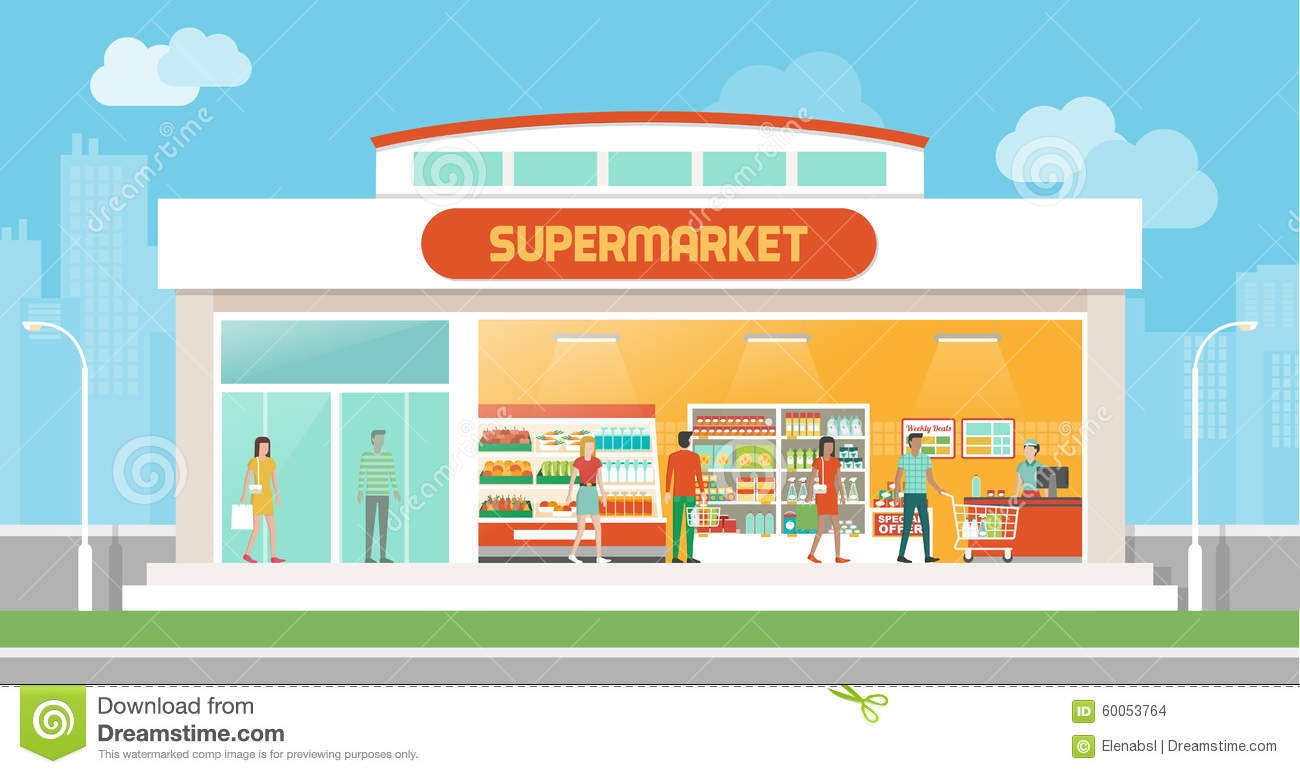 10+ Supermarket Clipart.
