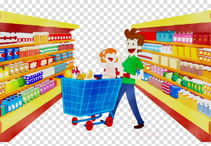 Supermarket Cartoon clipart.