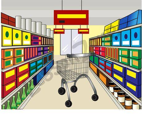 8+ Supermarket Clipart.