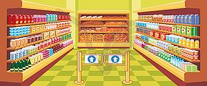 Supermarket clipart shopping.