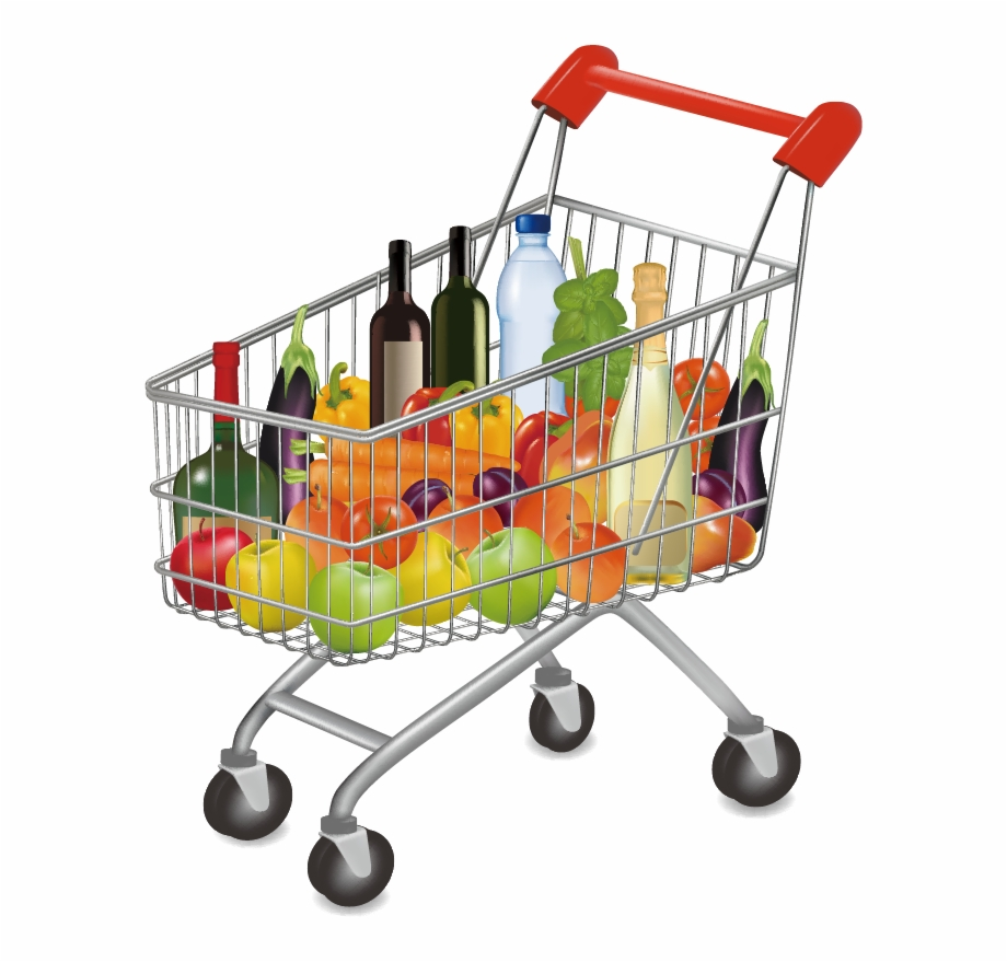 Groceries Vector Shopping Supermarket.