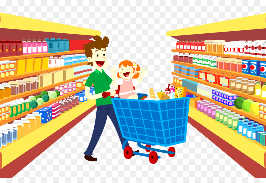 Supermarket Cartoon png download.