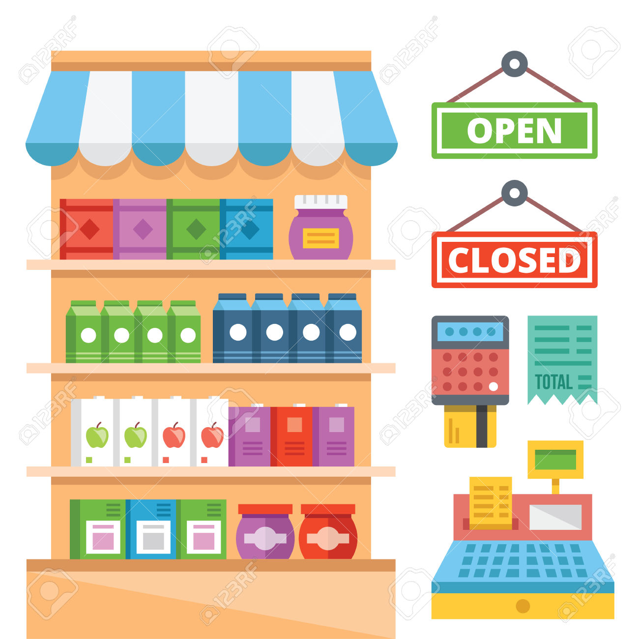 Supermarket Shelves Clipart Clipground