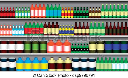 Supermarket shelf Clipart and Stock Illustrations. 2,248.