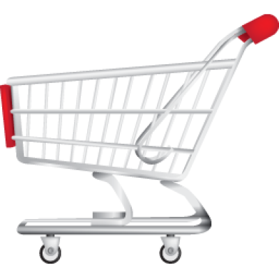 Supermarket trolley png image.