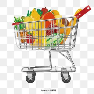 Supermarket Shopping Cart PNG Images.