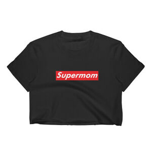 Details about Supermom Woman\'s Crop Top T.