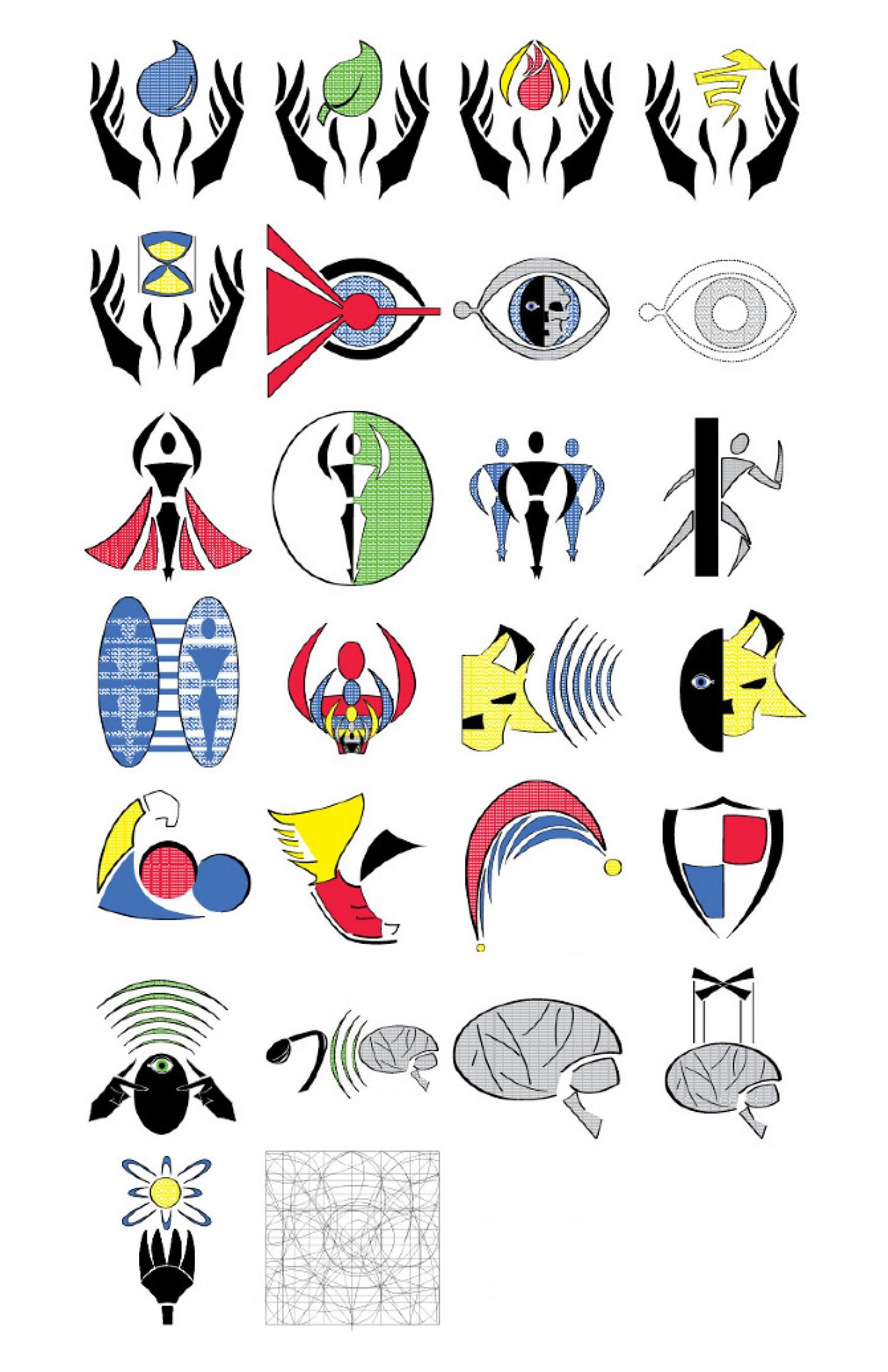 Super Power Symbols.