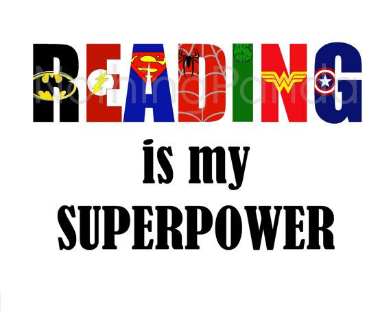 Reading is my superpower clipart.