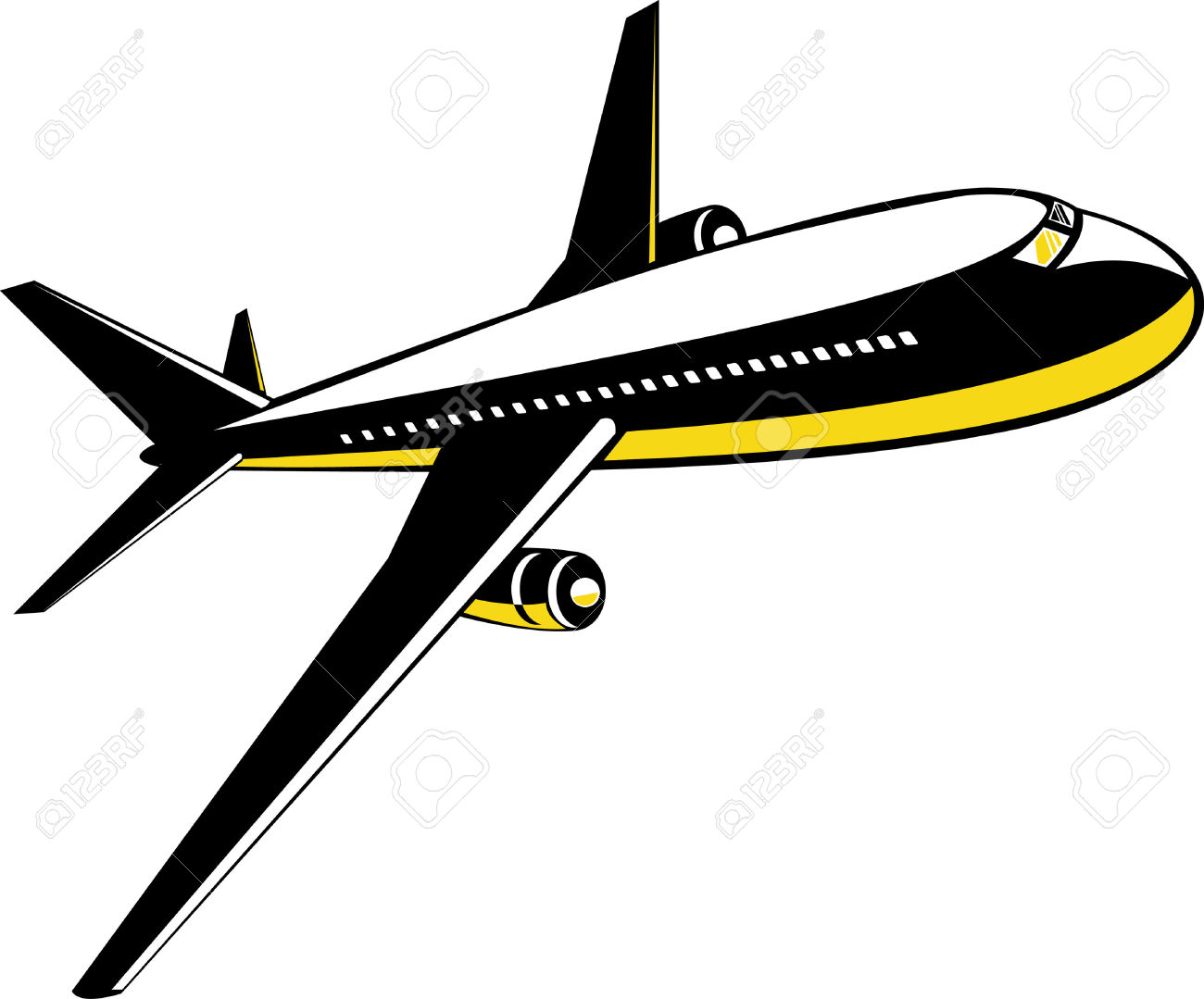 Supersonic jet plane clipart.