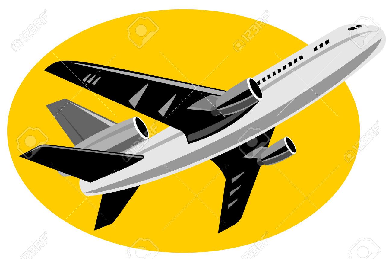 Supersonic jet plane clipart.