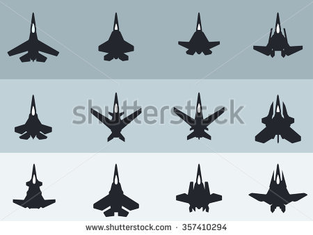 Supersonic Fighter Aircraft Jet Stock Vectors & Vector Clip Art.