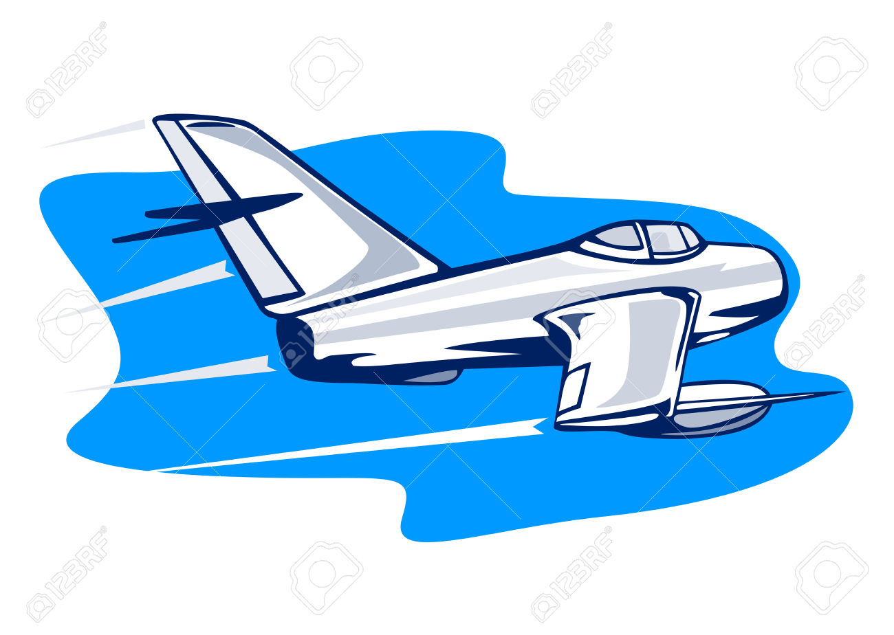 Supersonic Jet Fighter Attacking Royalty Free Cliparts, Vectors.