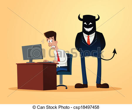 Clipart Vector of scary supervisor.