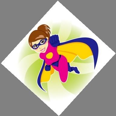 Superwoman Clipart.